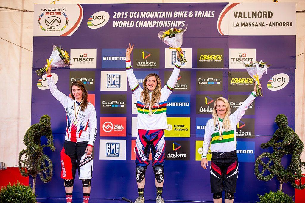 Rachel Atherton zdobywa tytuł Mistrzyni Świata DH 2015