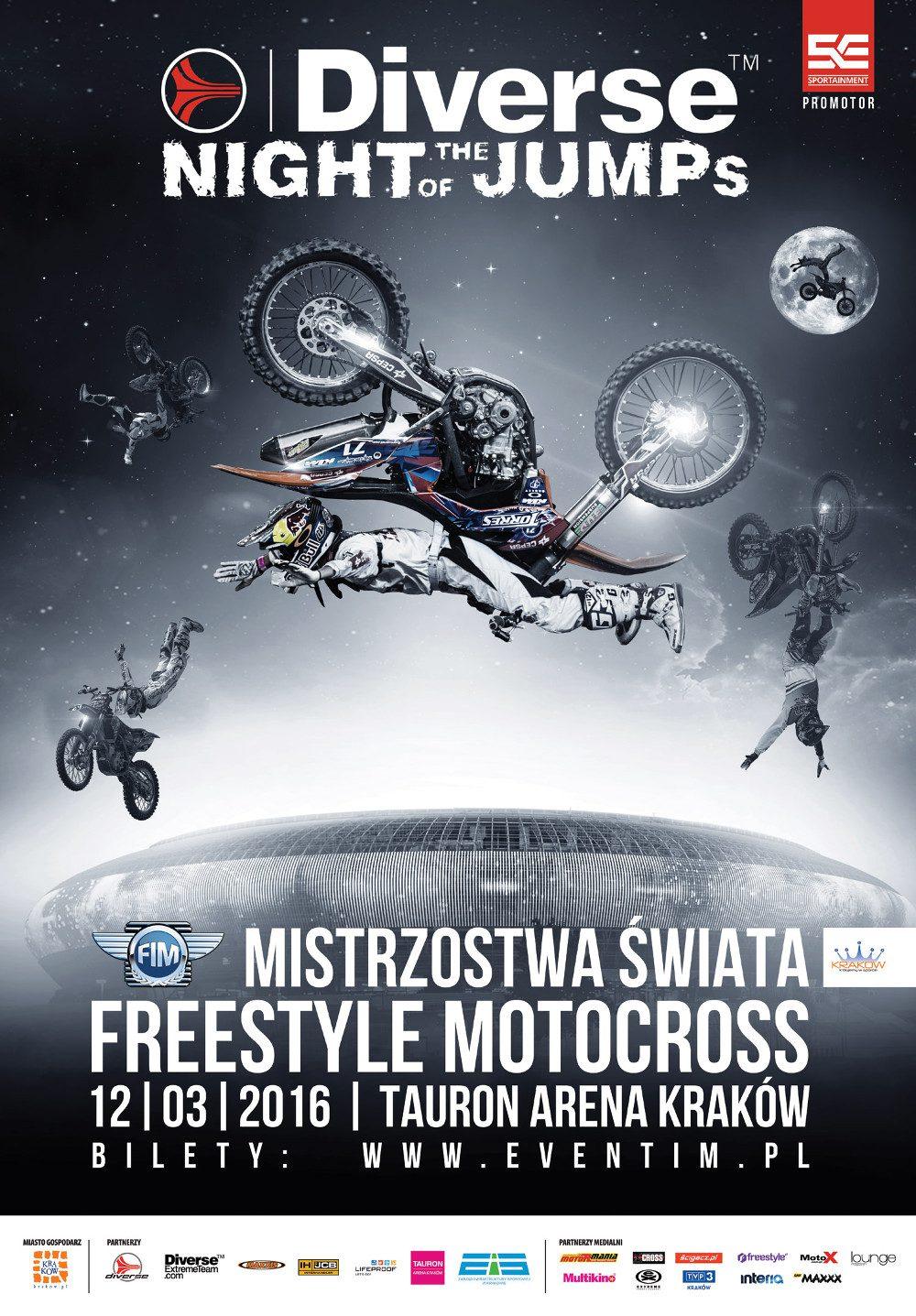 Diverse NIGHT of the JUMPs: mistrzowie lotów na motocyklach wracają do Krakowa