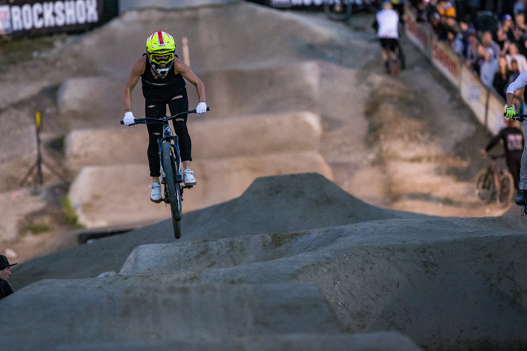 Blockbuster upset on Crankworx Whistler pump track