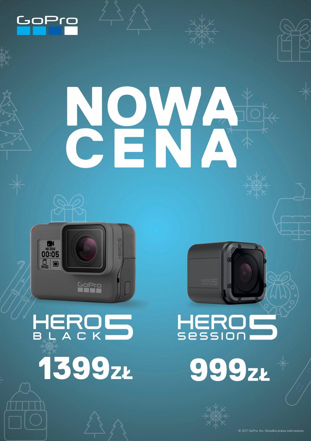GoPro Hero5 Black i Hero5 Session w nowych cenach
