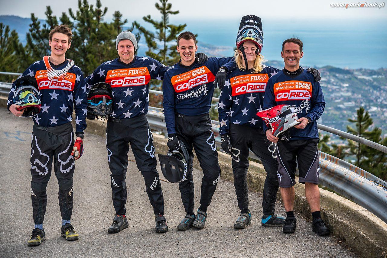 GoRide Racing Team po treningu w San Remo
