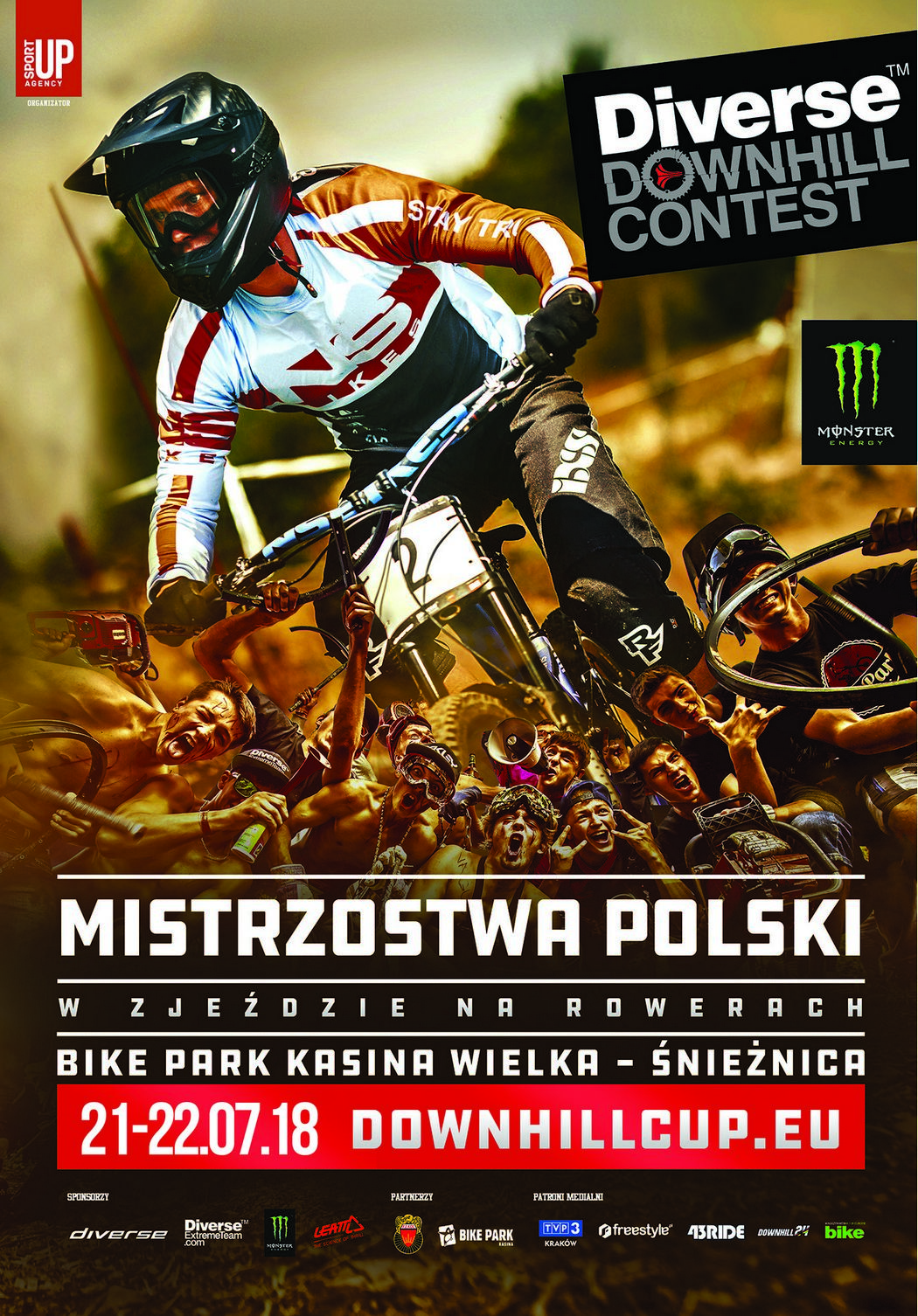 Mistrzostwa Polski Diverse Downhill Contest 2018 - helmet camy tras